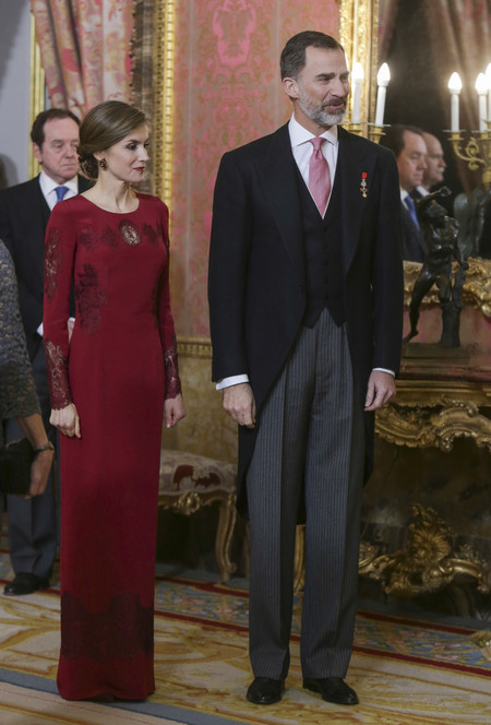 Reina Letizia Recepcion Cuerpo Diplomatico 2017 Felipe Varela 2