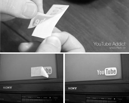 Pegatina para adictos a You Tube