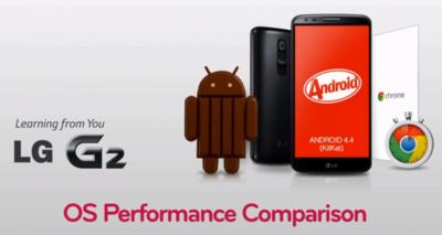 LG nos enseña en vídeo las mejoras de KitKat con respecto a Jelly Bean en un LG G2