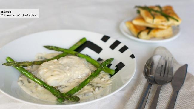 Bacalao con salsa de nata y sidra - presentación