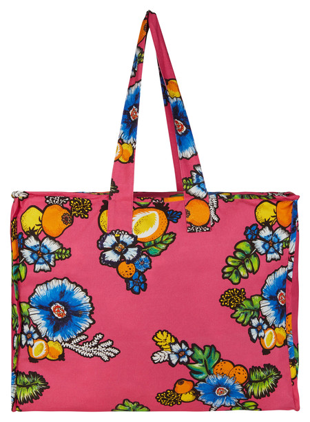 Asos Made In Kenya Oversized Shopper In Tropical Print Floral Gbp25