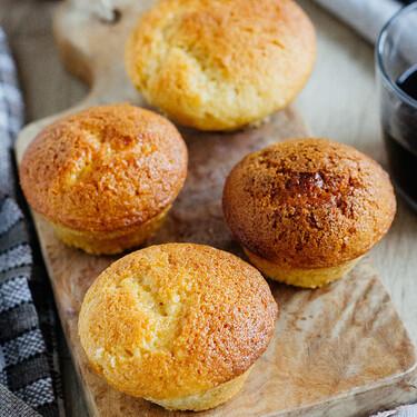 Muffins de crema de cacahuate. Receta fácil