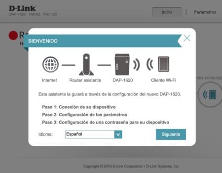 Configuración via Web del DAP-1620