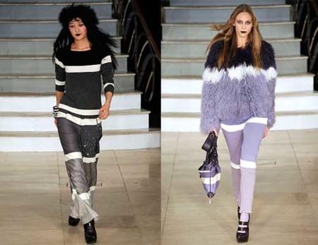 House of Holland Otoño-Invierno 2009/2010 en la Semana de la Moda de Londres, negro y malva