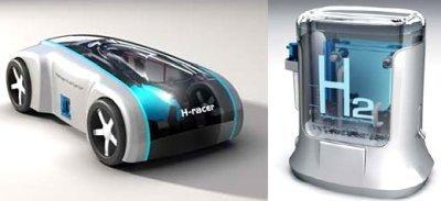 El coche de juguete alimentado por hidrógeno