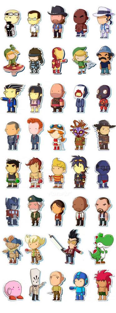 Scribblenauts personajes