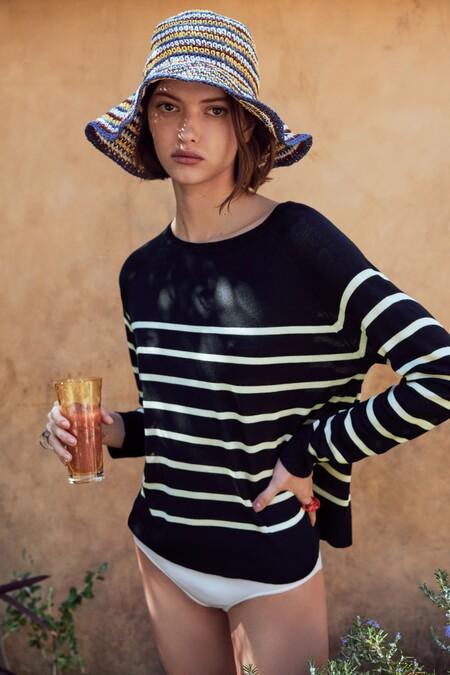 Zara Jersey Basico Rayas Marineras 02