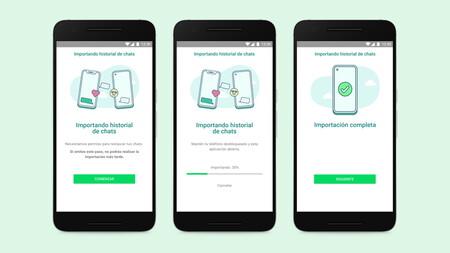 WhatsApp implementará, por fin, la opción de trasladar historiales de chat entre Android y iOS (y viceversa)