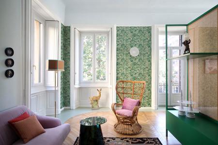 Descubre este hermoso apartamento en Milán en el que el verde es el color dominante