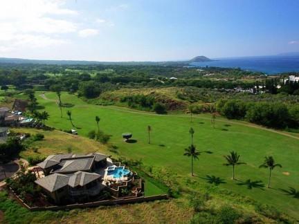 Vista panorámica sobre el campo de golf
