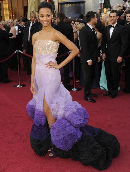 Zoe Saldana Givenchy Oscar 2010