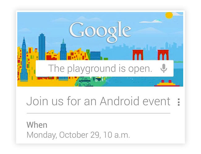 Google: The playground is Open. 29 de Octubre 2012