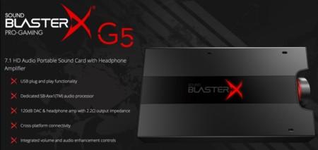 Sound BlasterX G5 una tarjeta externa de sonido que no es sólo para jugar: Análisis