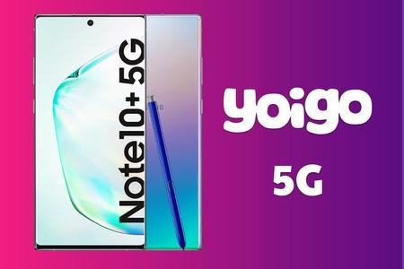 Yoigo se abre paso al 5G con su primer móvil compatible: precios a plazos del Samsung Galaxy Note10+ 5G