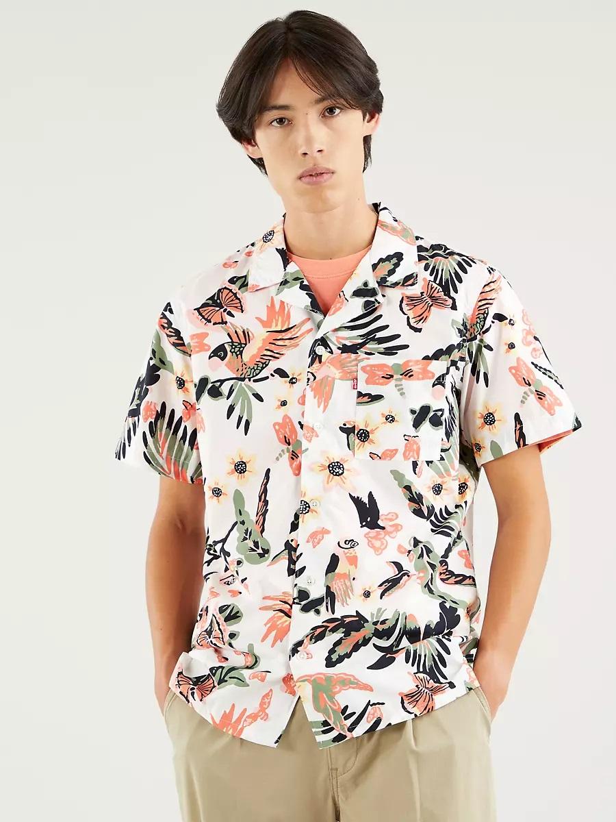 Camisa de flores de estilo hawaiana