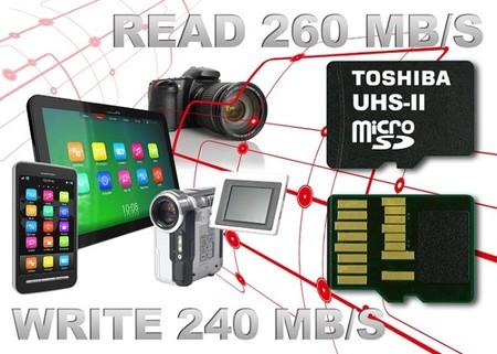 Toshiba es el primero con tarjetas microSD compatibles con el estándar UHS-II