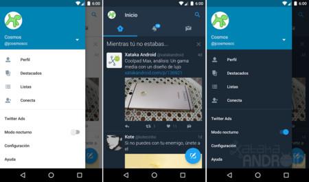 Twitter Modo Nocturno Android