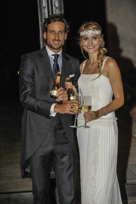Alba Carrillo y Feliciano López sellaron su amor rodeados de amigos