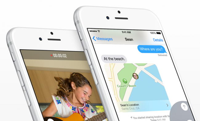 Mensajes iOS 8 Apple
