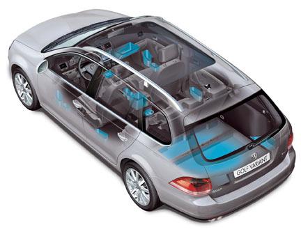 Volkswagen Golf Variant - Portaobjetos