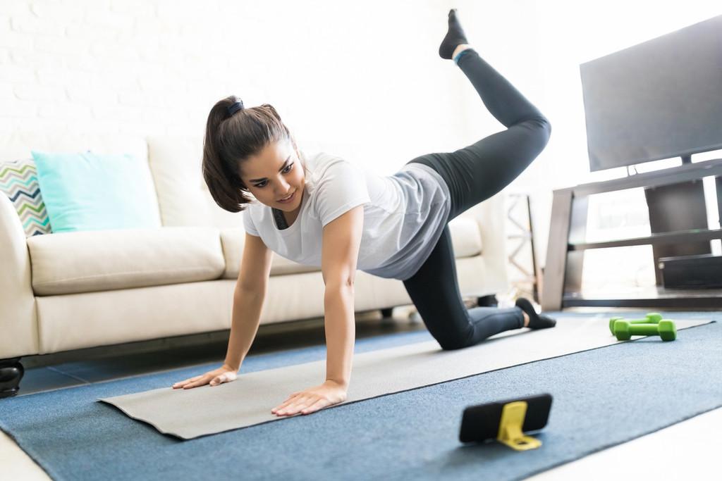 Plan de entrenamiento en casa, con tres días de entrenamiento por semana