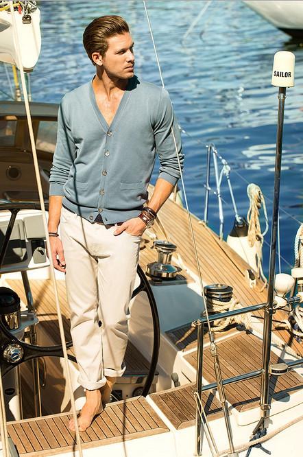 cardigan azul Massimo Dutti