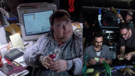 Jurassic World y Jurassic Park, escritorio desastroso