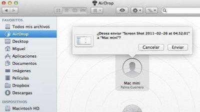 AirDrop no funciona en todos los Mac que corren OS X Lion