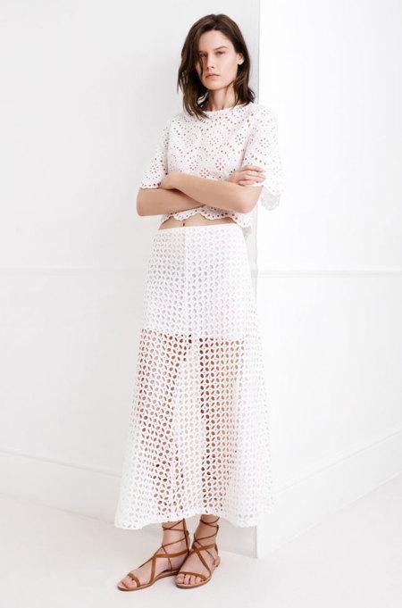 Zara Blanco Primavera 2015 midi