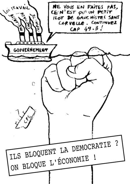 ¿Bloquean la democracia? ¡Bloqueemos la economía!