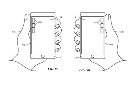 Una patente de Apple muestra cómo la interfaz del iPhone se puede adaptar según cómo lo cojas
