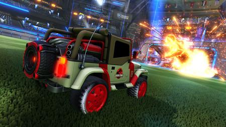 Los Jeeps y accesorios de Jurassic World llegarán a Rocket League este mismo mes