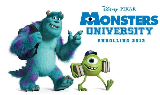 Imagen con el cartel de 'Monsters University'