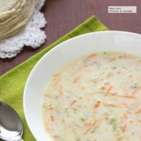 Sopa cremosa de calabacita y zanahoria. Receta