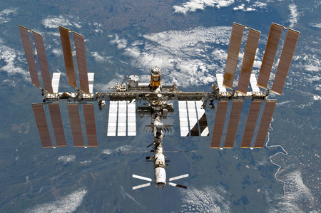 Sts 133 International Space Station After Undocking 5