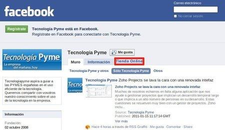 Las posibilidades de llevar la tienda online a Facebook