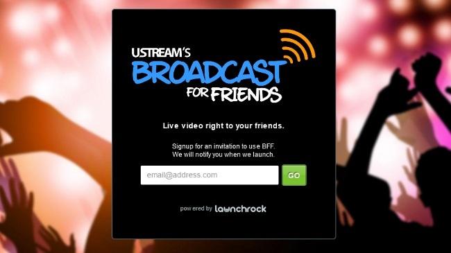 Ustream anuncia Broadcast for friends, una aplicación móvil para transmitir vídeo por Facebook