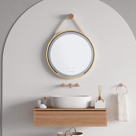 Espejo de Baño Redondo con Iluminación LED