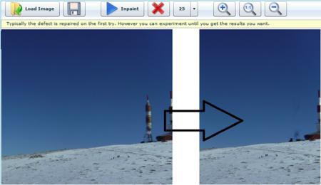 WebInPaint, elimina elementos no deseados de tus fotos