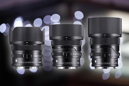 Sigma 24mm f3.5, 35mm f2 y 65mm f2 DG DN Contemporary, tres nuevas ópticas para mirrorless L-Mount y Sony E que inauguran la nueva serie I