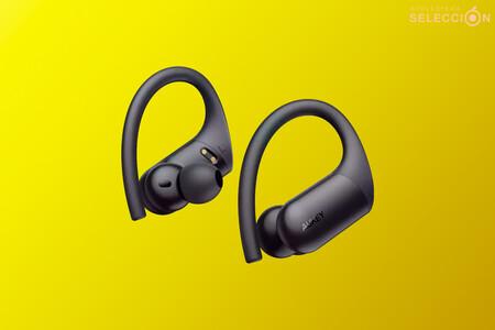 Estos auriculares Bluetooth deportivos sin cables de AUKEY tienen el diseño de los Powerbeats Pro, pero más baratos: 23,99 euros
