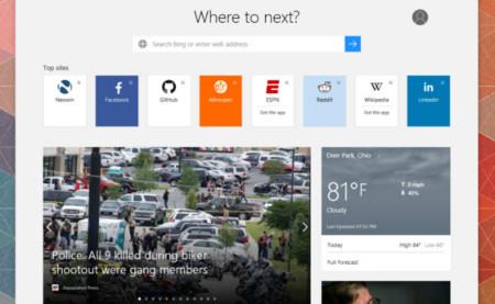 Microsoft Edge sigue tomando forma: así es su página de inicio para nuevas pestañas