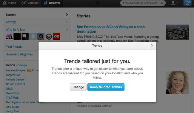 Twitter mostrará los trending topics en función del perfil del usuario
