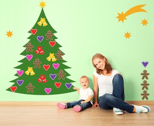 Diez ideas decorativas para una pared en tu hogar muy navide a - Ideas decorativas navidenas ...