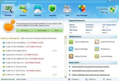 Toolwiz Care, completa herramienta para el mantenimiento del equipo