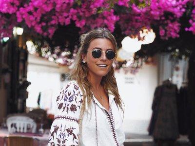 Los días de verano también se visten con blusas boho chic (bordadas)