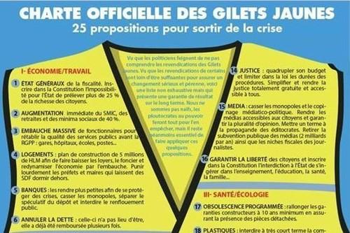 Más gasto social, menos impuestos, intervención bancaria y Frexit: así son las peticiones de los Chalecos Amarillos franceses