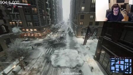Os presentamos a vuestro amigo y vecino el increíble montón de nieve: este es el mejor bug que verás hoy de Marvel's Spider-Man: Miles Morales