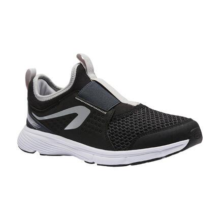Zapatillas Atletismo Run Support Easy Niños Negro Gris