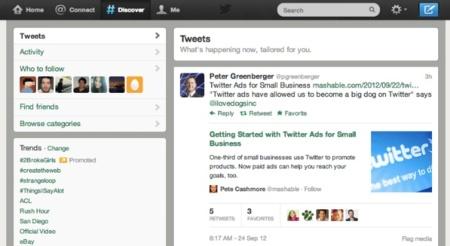 Twitter mejora su pestaña 'Descubre' exprimiendo más la información de los tuits